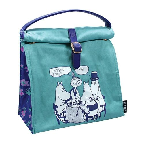Moomin Stop Eating Insulated Cotton Lunch Bag